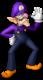 Waluigi's artwork from Mario Party 10 (also used in Mario Kart Tour)