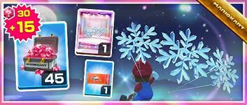 The Snow Crystals Pack from the Snow Tour in Mario Kart Tour