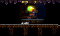 The Mysterious Mine Carts minigame in both versions of Mario & Luigi: Superstar Saga