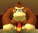 Donkey Kong as viewed in the Character Museum from Mario Party: Star Rush