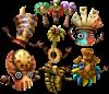 The Tiki Tak Tribe's Spirit sprite from Super Smash Bros. Ultimate