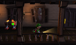 The Balcony segment from Luigi's Mansion: Dark Moon.
