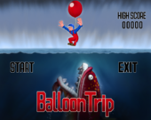 Title screen of Balloon Trip.