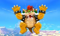 The graphical changes between both versions, showing Bowser literally breaking the fourth wall.