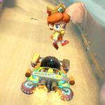 Baby Daisy performing a trick. Mario Kart 8.