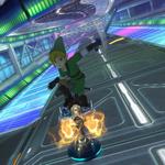 Link performing a trick. Mario Kart 8.