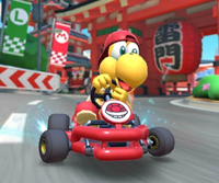The icon of the Baby Rosalina Cup challenge from the Mario Tour in Mario Kart Tour