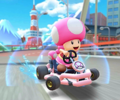 The icon of the Waluigi Cup challenge from the 2021 Yoshi Tour in Mario Kart Tour