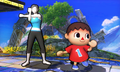 SSB4 3DS - Trainer and Villager Screenshot.png