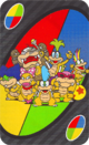 The Wild card from the UNO Super Mario deck (featuring the Koopalings)