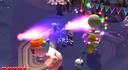 Wario battling a Crystal Entity