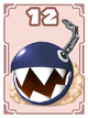 Chain Chomp card in Cardiators from Mario Party 8
