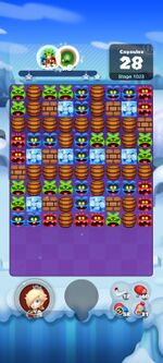 Stage 1023 from Dr. Mario World