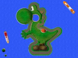A screenshot of the overview of Yoshi Circuit.