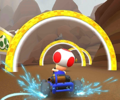 The icon of the Toad Cup challenge from the Exploration Tour in Mario Kart Tour.