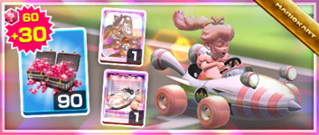 The Rose Queen Pack from the Super Mario Kart Tour in Mario Kart Tour