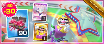 The Star-Spangled Glider Pack from the Los Angeles Tour in Mario Kart Tour