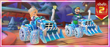 """The """"A 2nd Anniversary Tour Celebration! Ice Dozer!"""" Pack from the 2nd Anniversary Tour in Mario Kart Tour"""