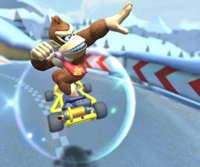 The icon of the Bowser Jr. Cup challenge from the 2019 Winter Tour and the Wendy Cup challenge from the Wild West Tour in Mario Kart Tour.
