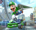 The icon of the Shy Guy Cup challenge from the London Tour and the Peach Cup challenge from the 1st Anniversary Tour in Mario Kart Tour