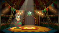 The first sighting of the Green Big Paint Star in Paper Mario: Color Splash