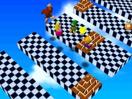 The minigame Platform Peril.