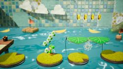 Ride the River, the first level of Cheery Valley in Yoshi's Crafted World.