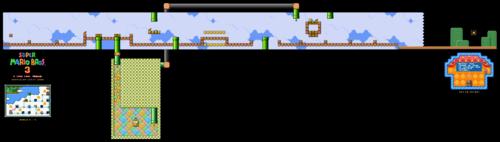 Map in the Super Mario All-Stars version