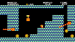Screenshot of World 3-4 from Super Mario Bros. Special.
