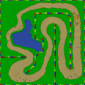 The map for Donut Plains 2.