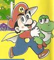 Cape Mario with Baby Yoshi - KC Mario manga.png