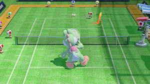 A Topspin in Mario Tennis: Ultra Smash.