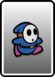 A Blue Shy Guy card from Paper Mario: Color Splash