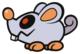 Scaredy Rat sprite from Paper Mario: Color Splash