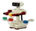 A Sticker of R.O.B. and his Stack-Up blocks in Super Smash Bros. Brawl.