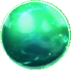 The green Rare Orb, found in Platform Panic