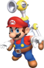 Artwork of Mario and F.L.U.D.D. from Super Mario Sunshine