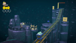 Mine Cart Tunnel Throwdown from Captain Toad: Treasure Tracker