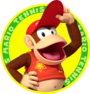 The icon artwork for Diddy Kong from Mario Tennis Open