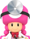 Sprite of Dr. Toadette from Dr. Mario World