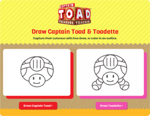 The title screen for How to Draw Captain Toad