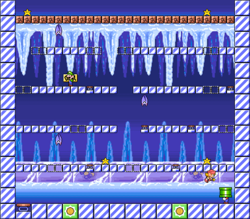Level 4-4 map in the game Mario & Wario.