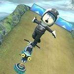 The Female Mii's Antigravity trick animation in Mario Kart 8