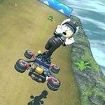 The female Mii's anti gravity trick in Mario Kart 8