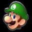Luigi's head icon in Mario Kart 8