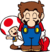 Mario and Toad