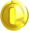 Artwork of a Coin in Super Mario Sunshine.