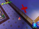 A Blue Coin in Sirena Beach in the game Super Mario Sunshine.