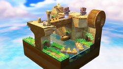 Level screenshot with Walleye's, from Captain Toad: Treasure Tracker.