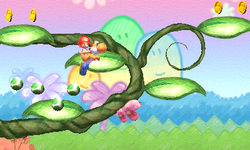 Screenshot of Yoshi's New Island.